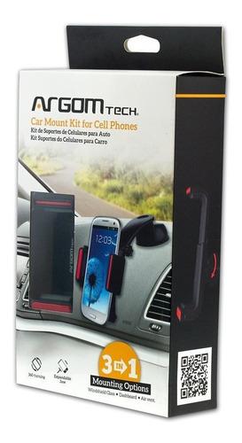 soporte para celular carro argom arg-ac-0333bk