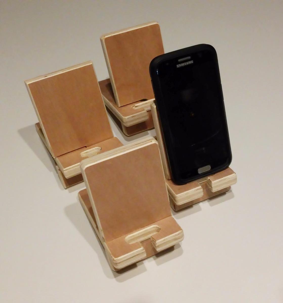 Soporte para celular escritorio soporte celular en - Soportes para estantes de madera ...