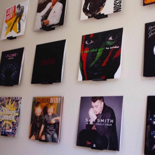 soporte para discos de vinyl