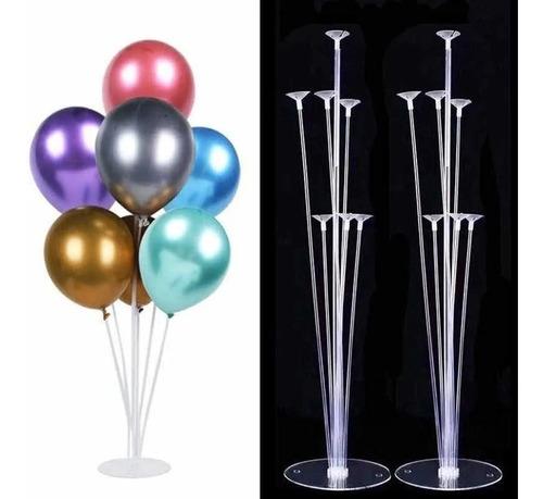 soporte para globos x 7 u-40cm-60cm-70cm- universo mágico