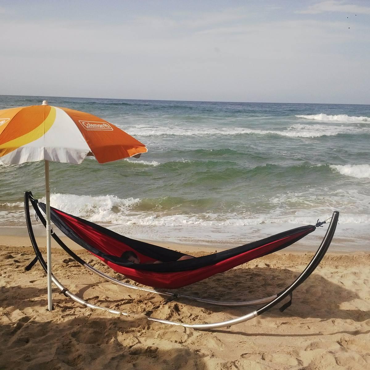 soporte para hamaca playa o montaa