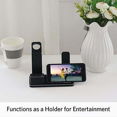 soporte para iphone, apple watch y airpods
