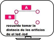 soporte para led fijo de 26 a 55 pulgadas