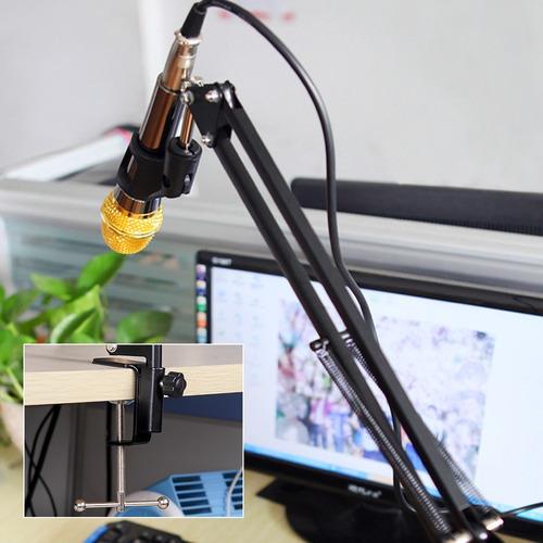 soporte para micrófono brazo estudio condenser profesional