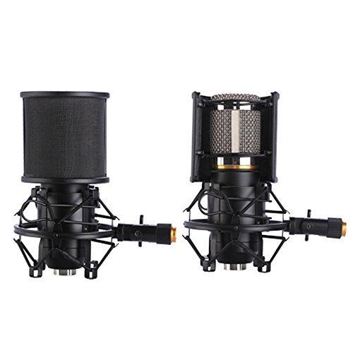 Soporte de micr/ófono con filtro para micr/ófono de 46 mm a 53 mm de di/ámetro
