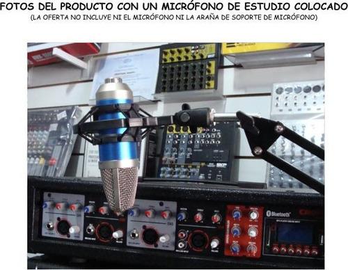 soporte para micrófono condenser ideal estudio radio