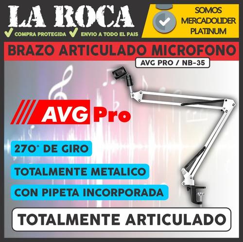 soporte para microfono radio brazo articulado 270°