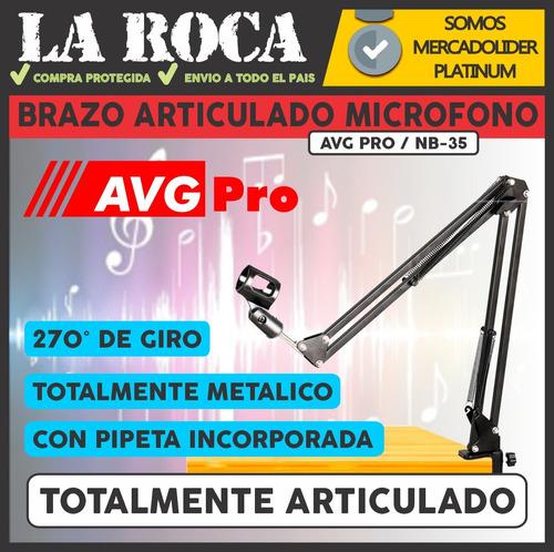 soporte para microfono radio brazo articulado 270° envio