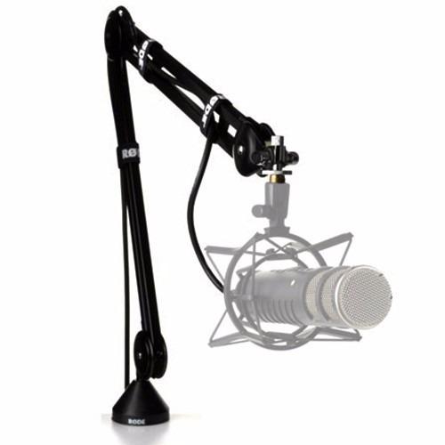 soporte para microfono rode psa1 pie brazo gira 360° radio