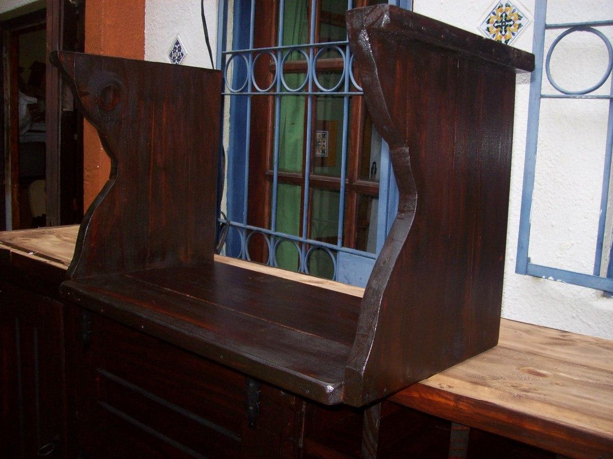 Soporte para microondas en madera maciza rustico 1 - Soportes para microondas ...