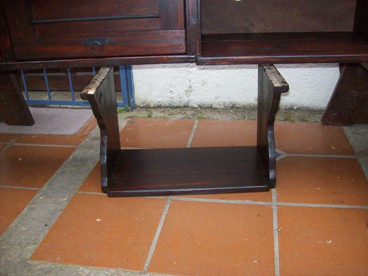 Soporte para microondas en madera maciza rustico en mercado libre - Soportes para microondas ...