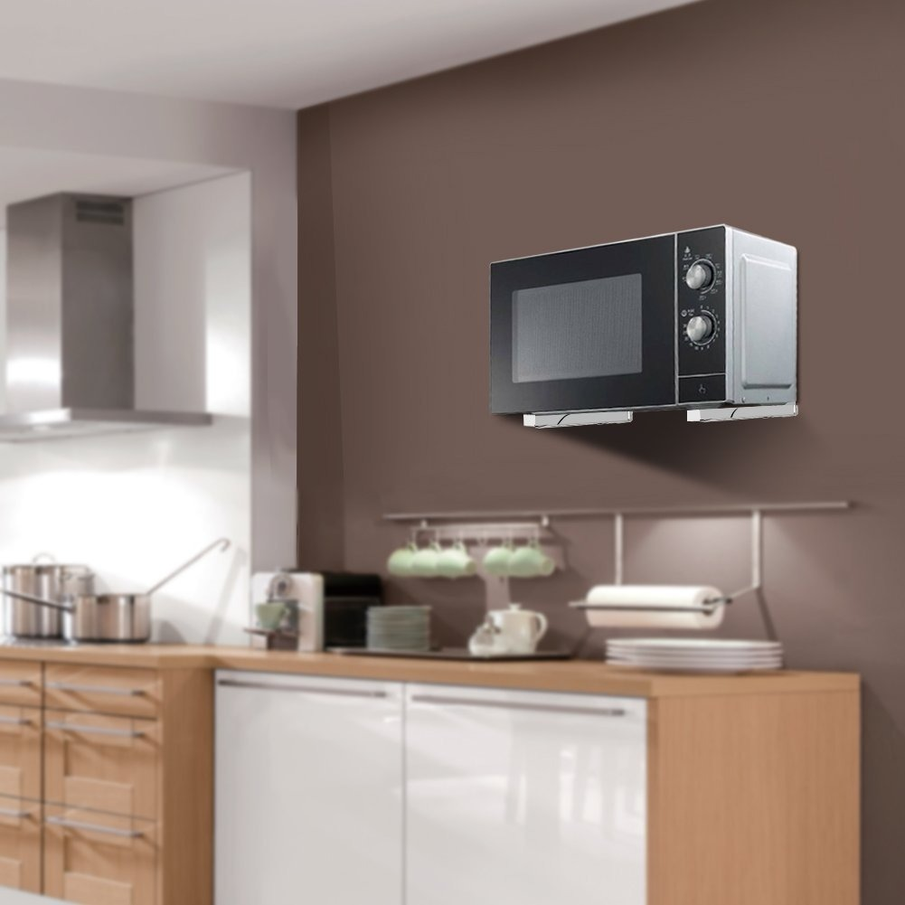 Soporte para microondas repisa universal acero inoxidable for Repisa para microondas