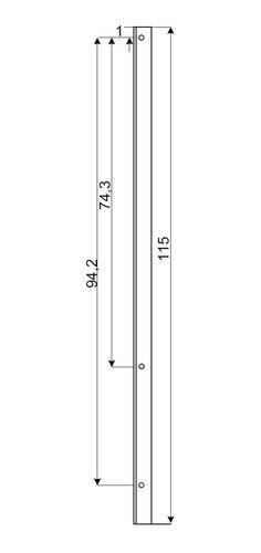 soporte para paneles solares 60 y 72 celdas perfil pintado