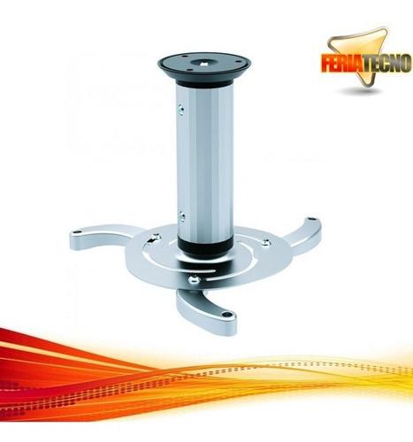 soporte para proyector a techo, 13 o 20 cm. 10kg. plateado