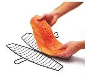 soporte para salmón antiadherente mango removible herracor
