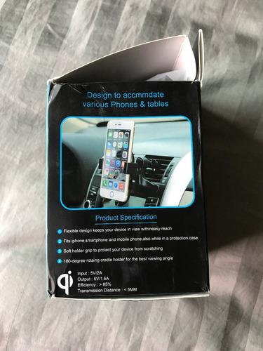soporte para smartphone con carga inalámbrica para automóvil
