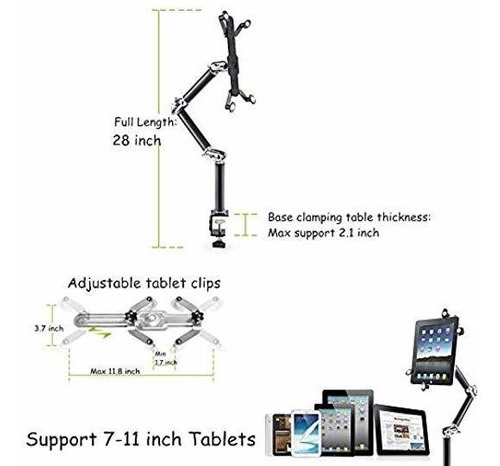 soporte para tablet aipad telefono movil de pared ajustable