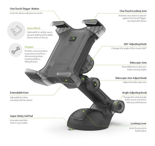 soporte para tablets de escritorio auto superficies