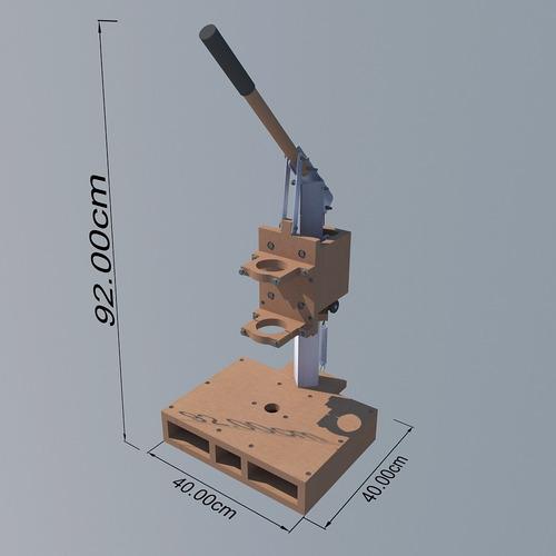 soporte para taladro casero (planos para construir)