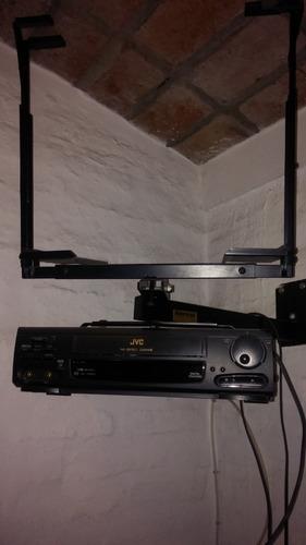 soporte para tv 14 pulgadas mas video gravadora jvc impecabl