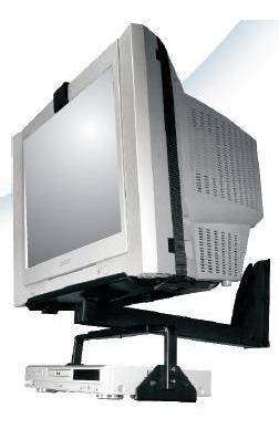 soporte para tv de 22 a 32 pulgadas con aditamento para dvd