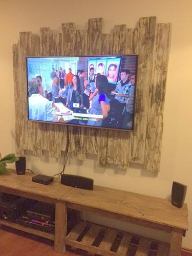 soporte para tv de pallets