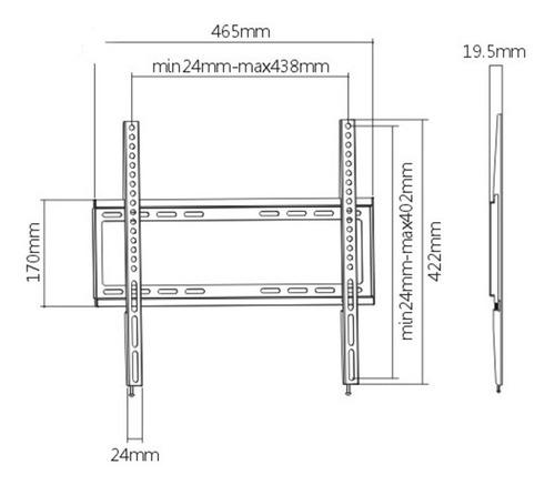 soporte para tv lcd/led fijo hasta 55'' modelo kl22-44f