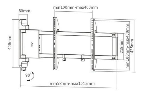 soporte para tv lcd/led motorizado hasta 47'' plb-m03