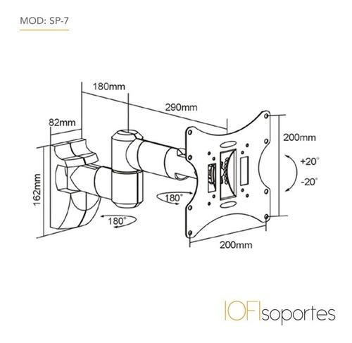 soporte para tv led iofi cubre cables 32 39 40 42 43