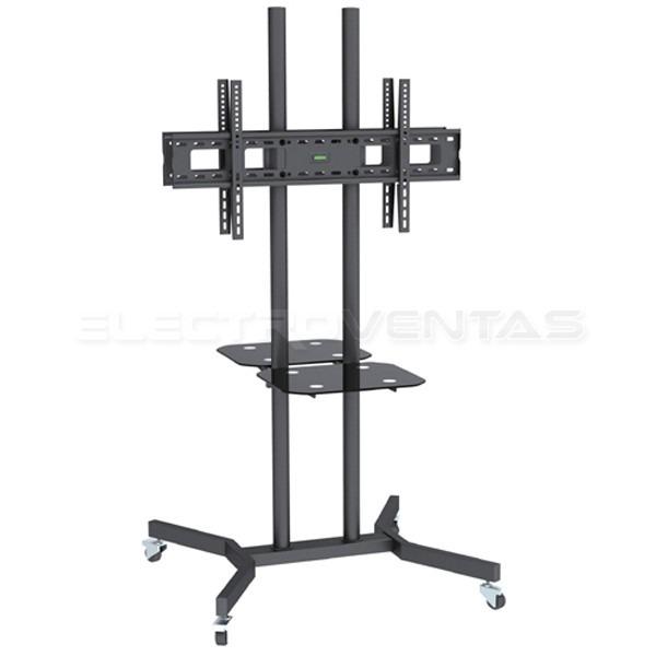 Soporte para tv tipo pedestal doble con ruedas 37 63 ev8188 en mercado libre - Soporte con ruedas para tv ...