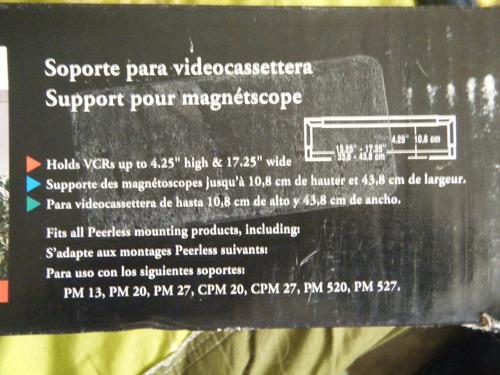 soporte para videocassetera peerless pm40 nuevo