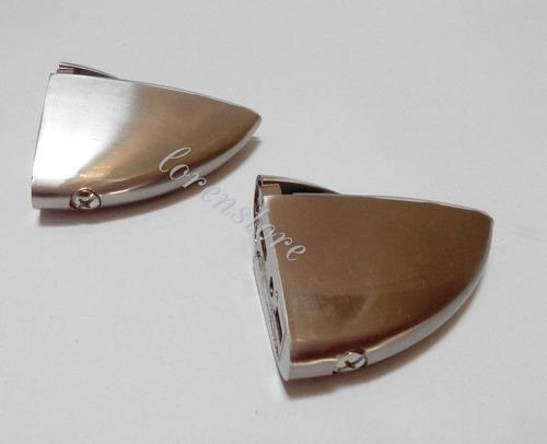 soporte para vidrio en acero inoxidable