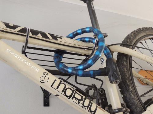 soporte pared bicicleta parrilla porta objetos -x-1  mtb