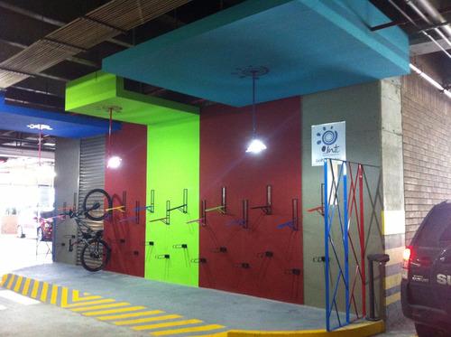 soporte pared de bicicleta- personalizado, no daña la llanta