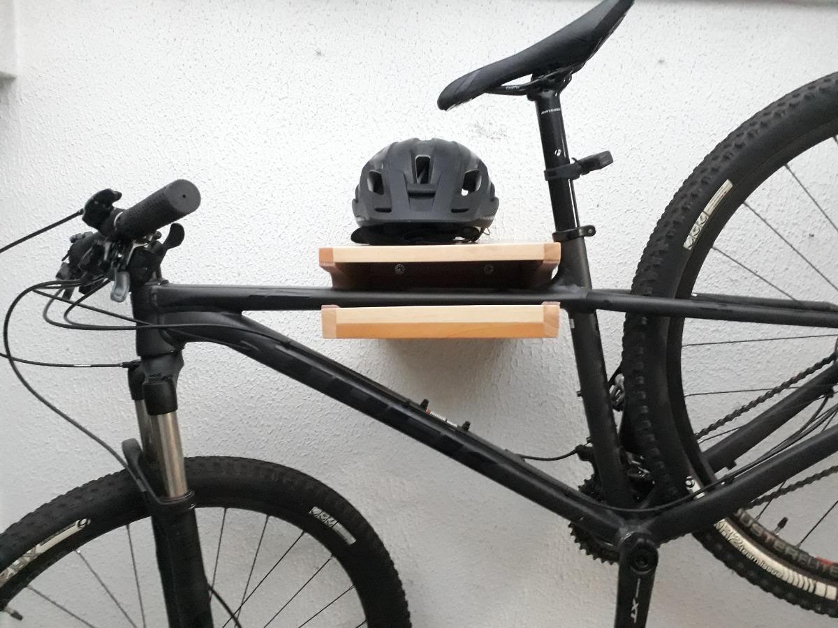 Soporte De Pared En Madera Para Bicicleta - $ 179.900 en Mercado Libre