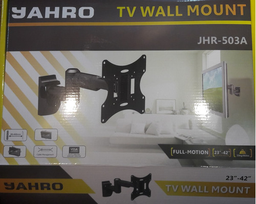 soporte pared tv lcd jahro 23´ a 42´ / hasta 30kg