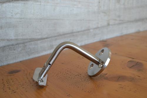 soporte pasamanos barandal ajustable acero inoxidable