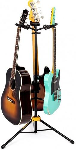 soporte pie de guitarra triple sms gs311 plegable