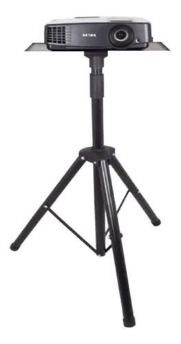 soporte pie proyector tripode rebatible bandeja metal mesa