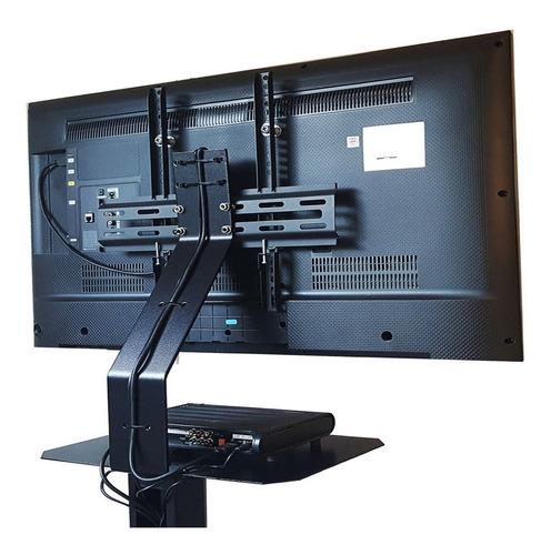 soporte pie tv 24/42 pulg. rk170, 4 ruedas + 2 estantes