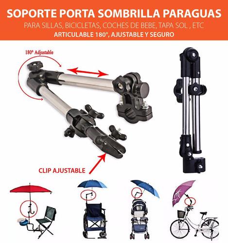 soporte porta sombrilla paraguas silla bici tapa sol coche