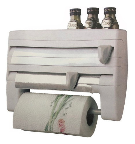 soporte portarrollo dispensador papel con cortador 86020