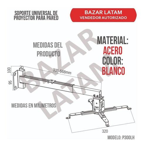 soporte proyector de pared ajuste universal extensible