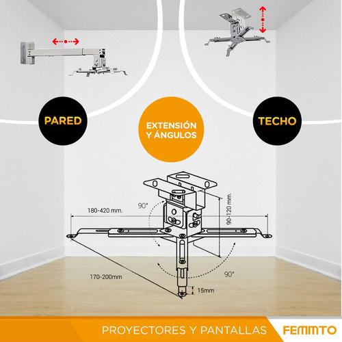 soporte proyector techo pared extensible giro 360 grado 2019