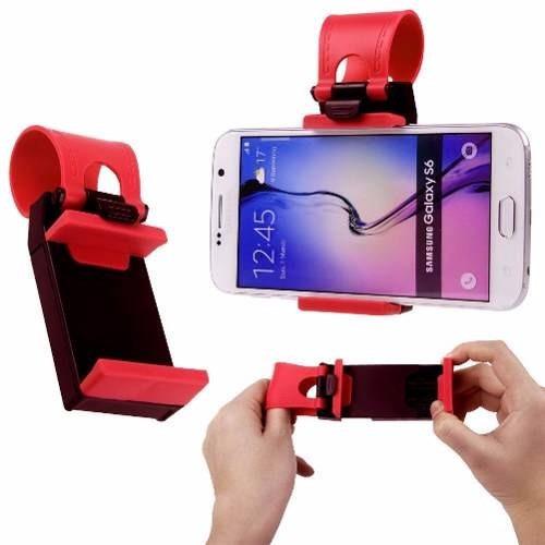 soporte p/volante auto universal silicona gps-celular-iphone