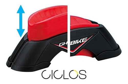 soporte rueda delantera rodillo de entrenam. 3 niv - ciclos