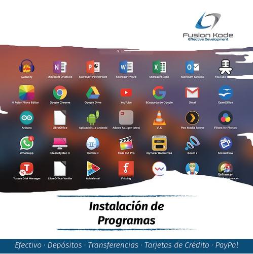 soporte servicio tecnico computadoras laptops windows y mac