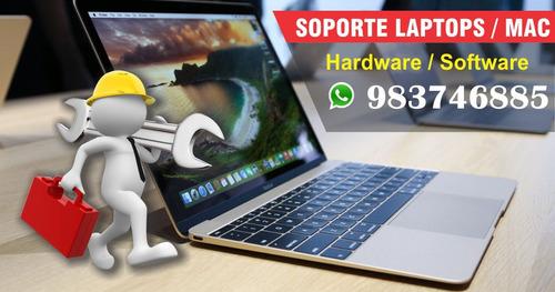 soporte servicio técnico laptops, mac y pc - plaza sanmiguel