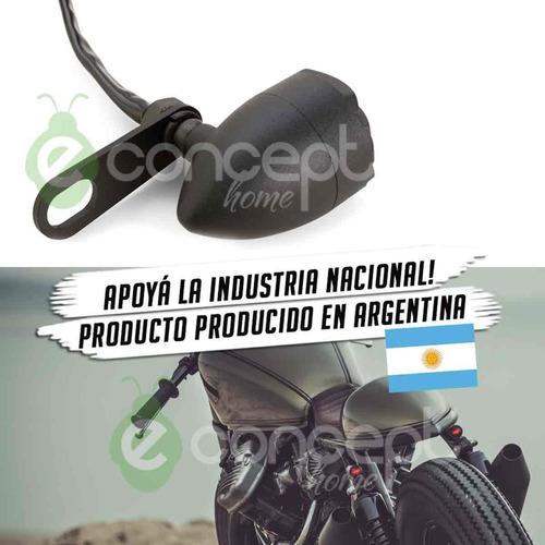 soporte simple de acero inoxidable giros guiños moto negro