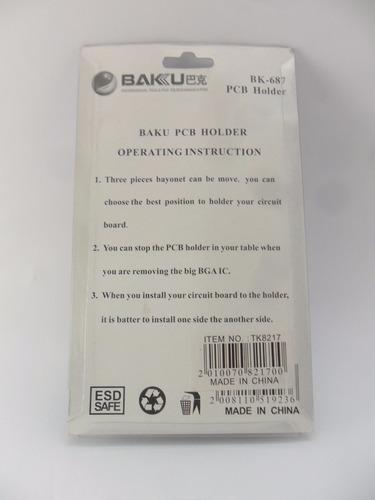 soporte sujeta placas celulares plaqueta soldar smd pcb baku